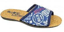 BTK70507-55-44-P (32-35) Туфли комнат. с верхом из текст.матер. дет и подрост.